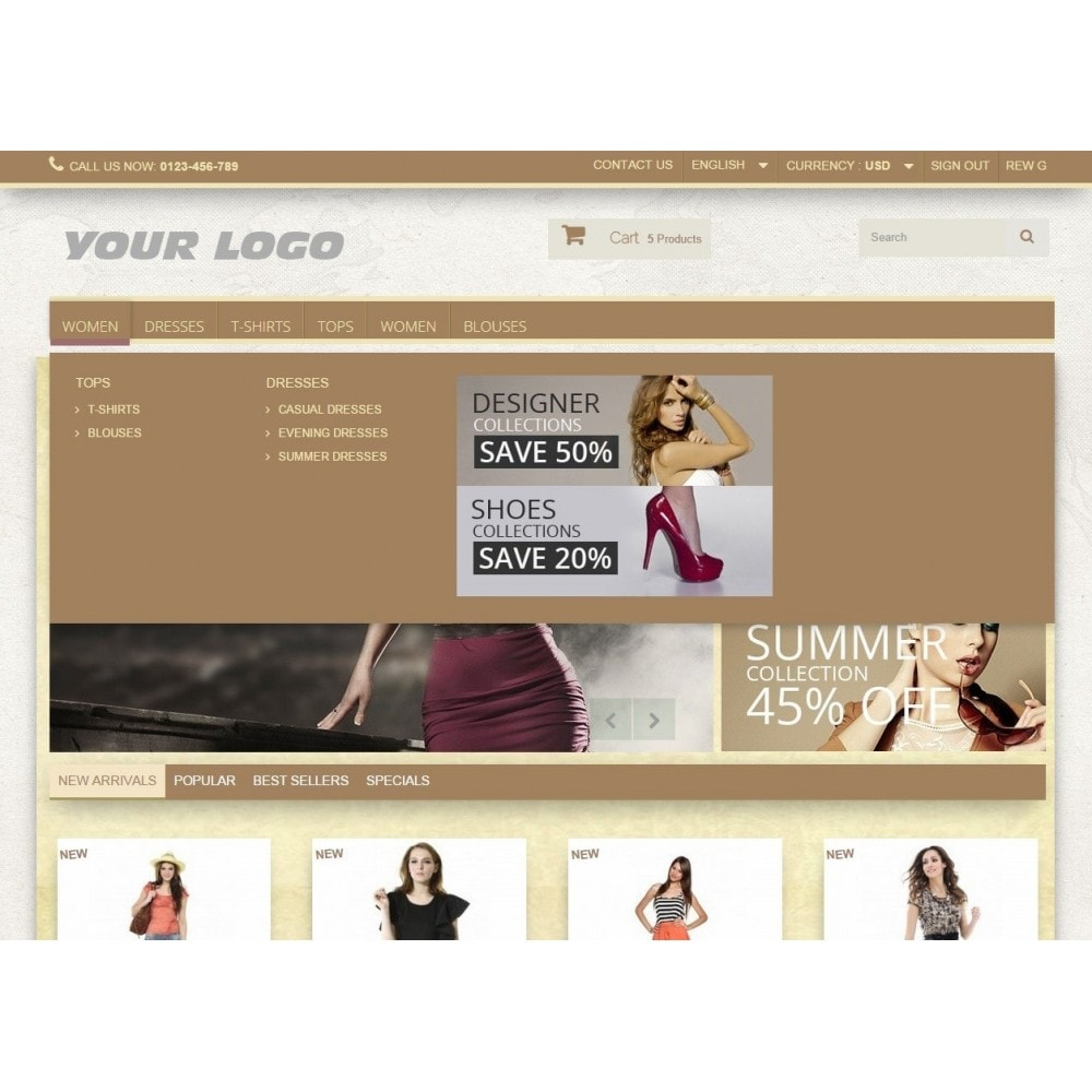 theme - Mode & Schuhe - Super Neutral - Prestashop Responsive 2 - 6