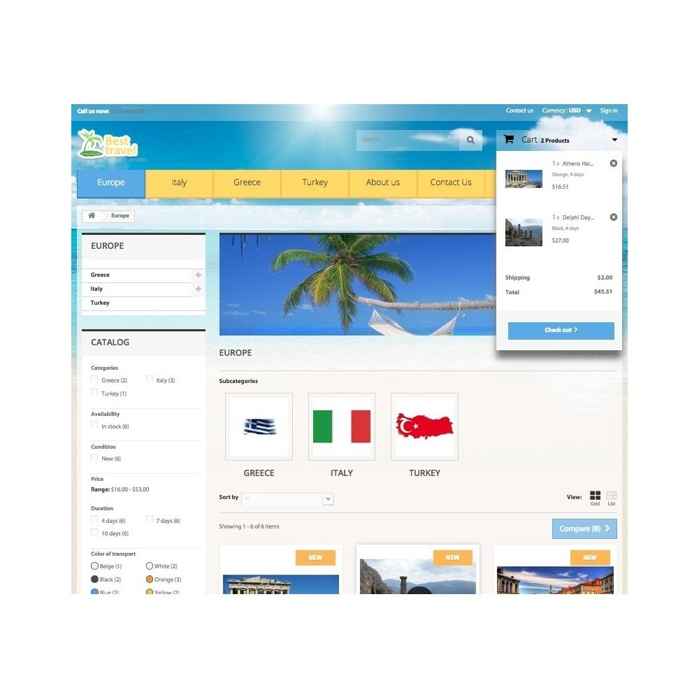 theme - Sports, Activities & Travel - Best Travel 1.6 Responsive - 6