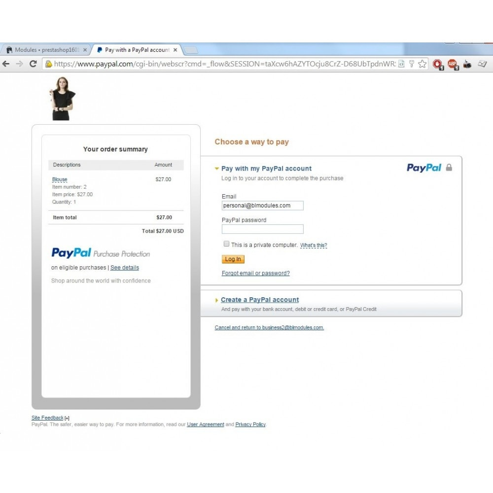 module - Creditcardbetaling of Walletbetaling - PayPal buy now button - 1