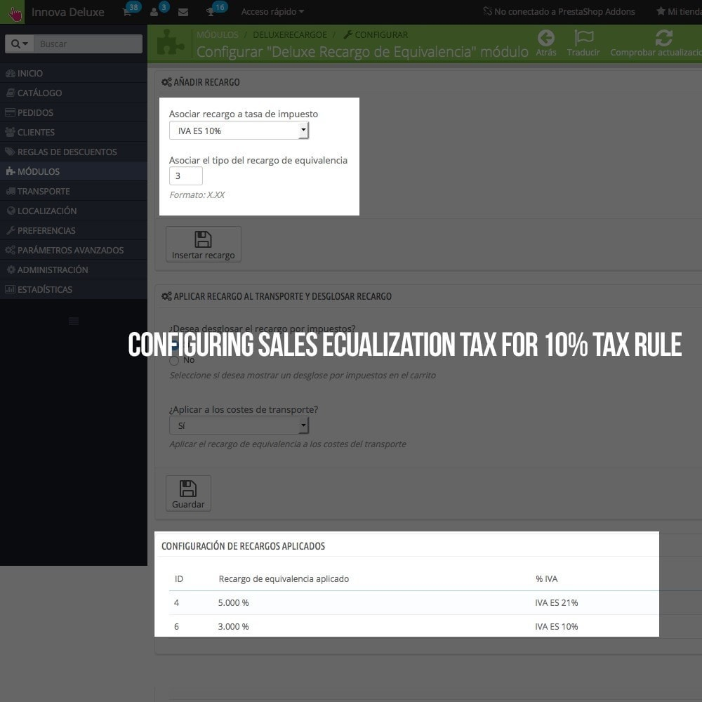 Moduł Applying Sales Equalization Tax To Orders And Invoices