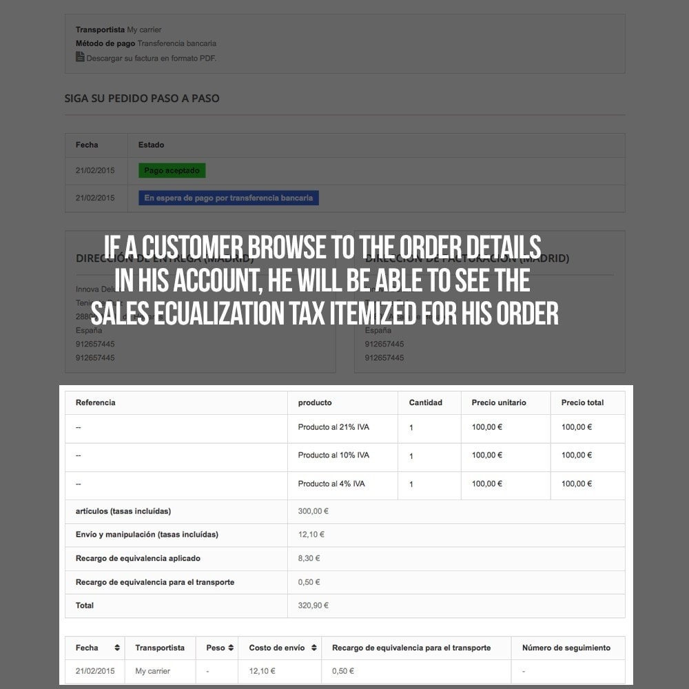module - B2B - Applying sales equalization tax to orders and invoices - 23