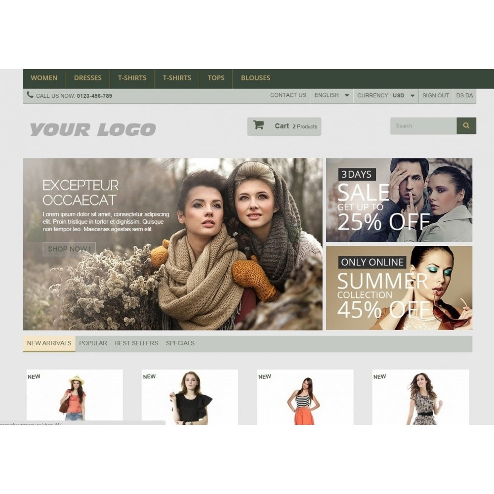 Neutral Website Templates Prestashop - Responsive
