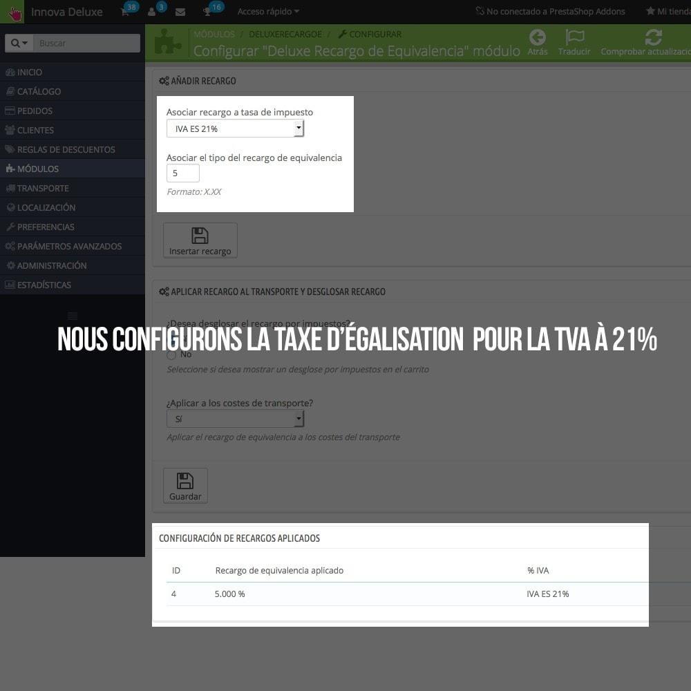 module - B2B - Appliquer Taxe d'égalisation aux commandes et factures - 5