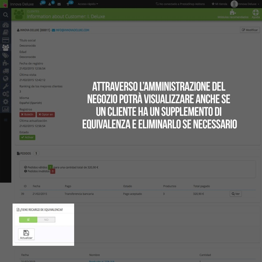 module - B2B - Applicare supplemento di equivalenza a ordini/fatture - 11