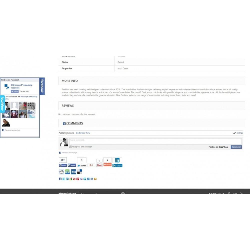 module - Deelknoppen & Commentaren - Social Constructor (Share and Follow) - 2