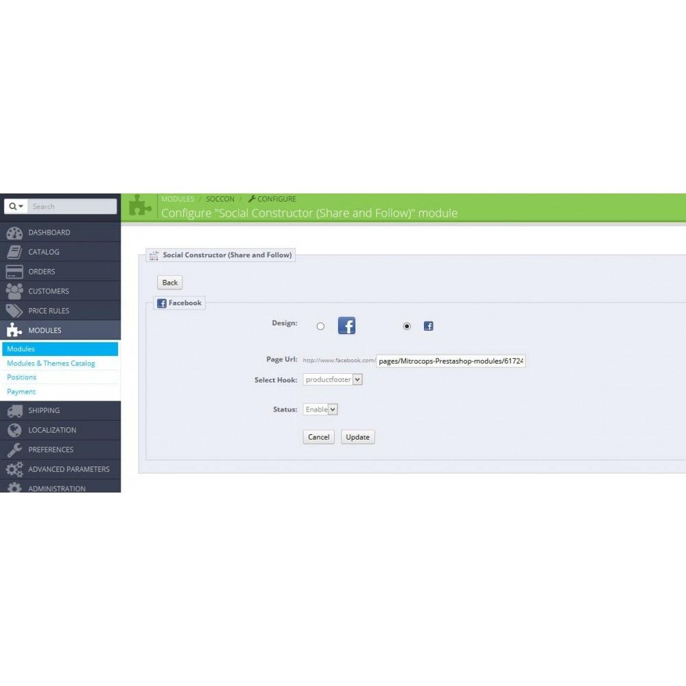 module - Deelknoppen & Commentaren - Social Constructor (Share and Follow) - 23
