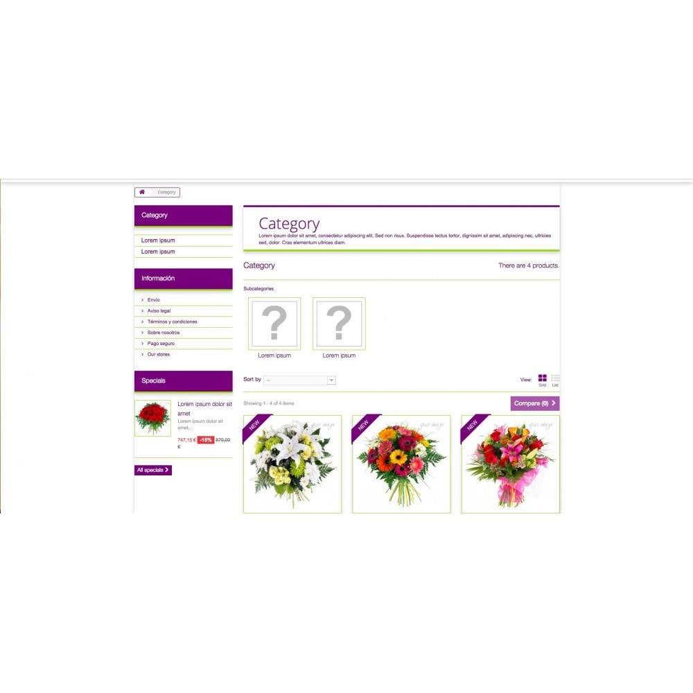 theme - Gifts, Flowers & Celebrations - Templant flowers - 3