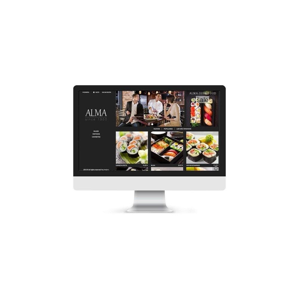 theme - Alimentos & Restaurantes - ALMA White, Black & Cristal - 4