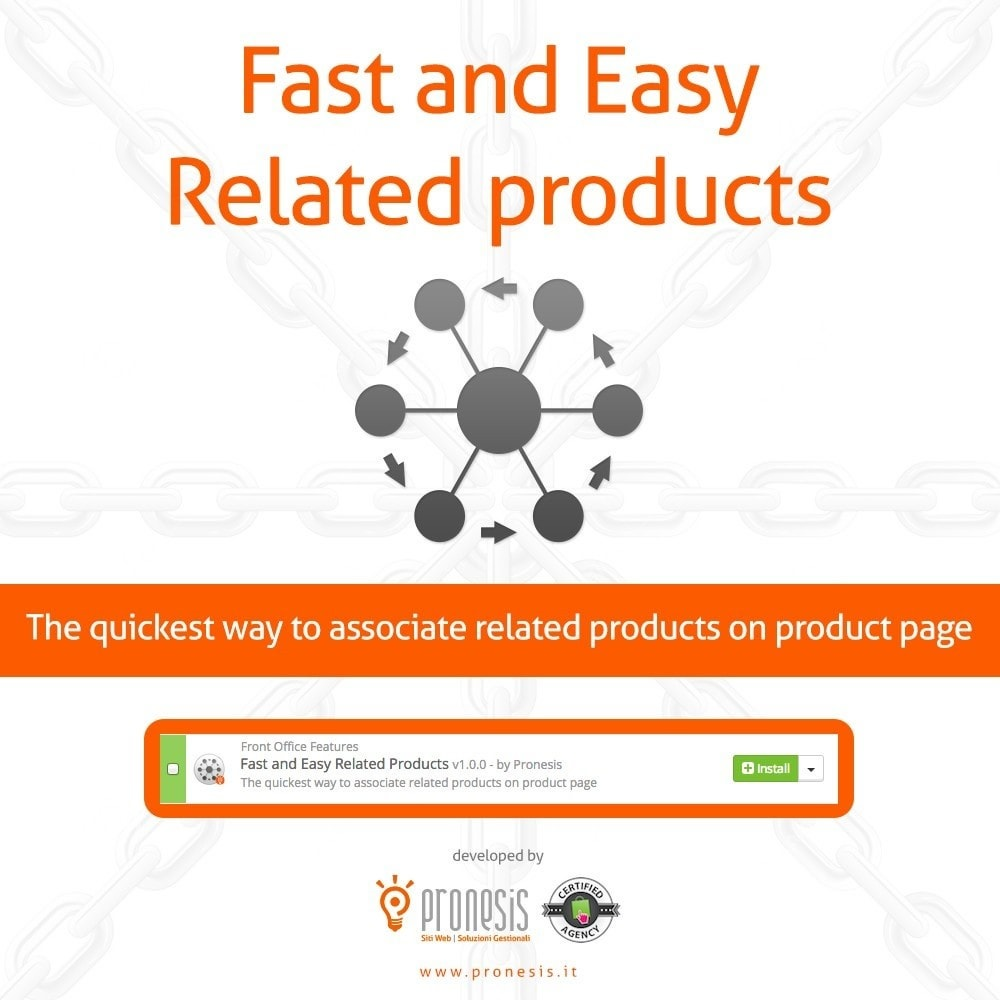 module - Ventes croisées & Packs de produits - Fast and Easy Related Products - 1