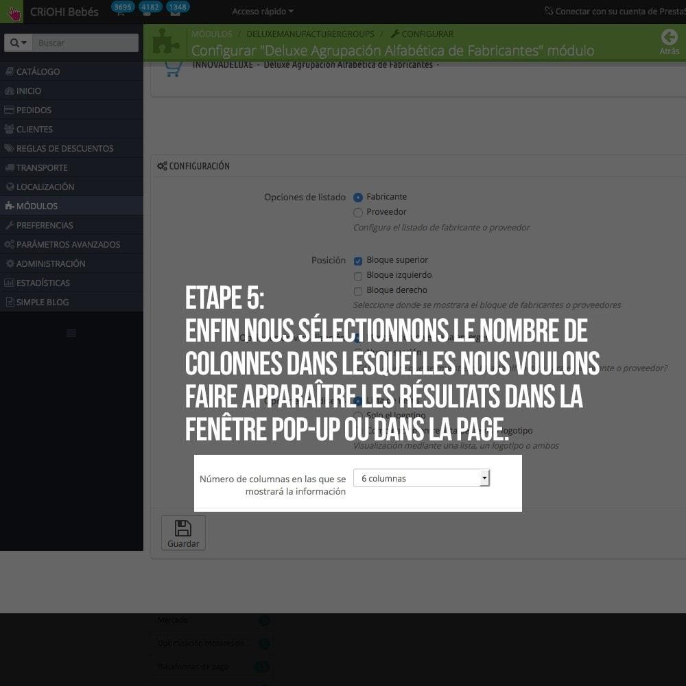 module - Recherche & Filtres - Moteur de recherche alphabétique de marques (fabricant) - 7