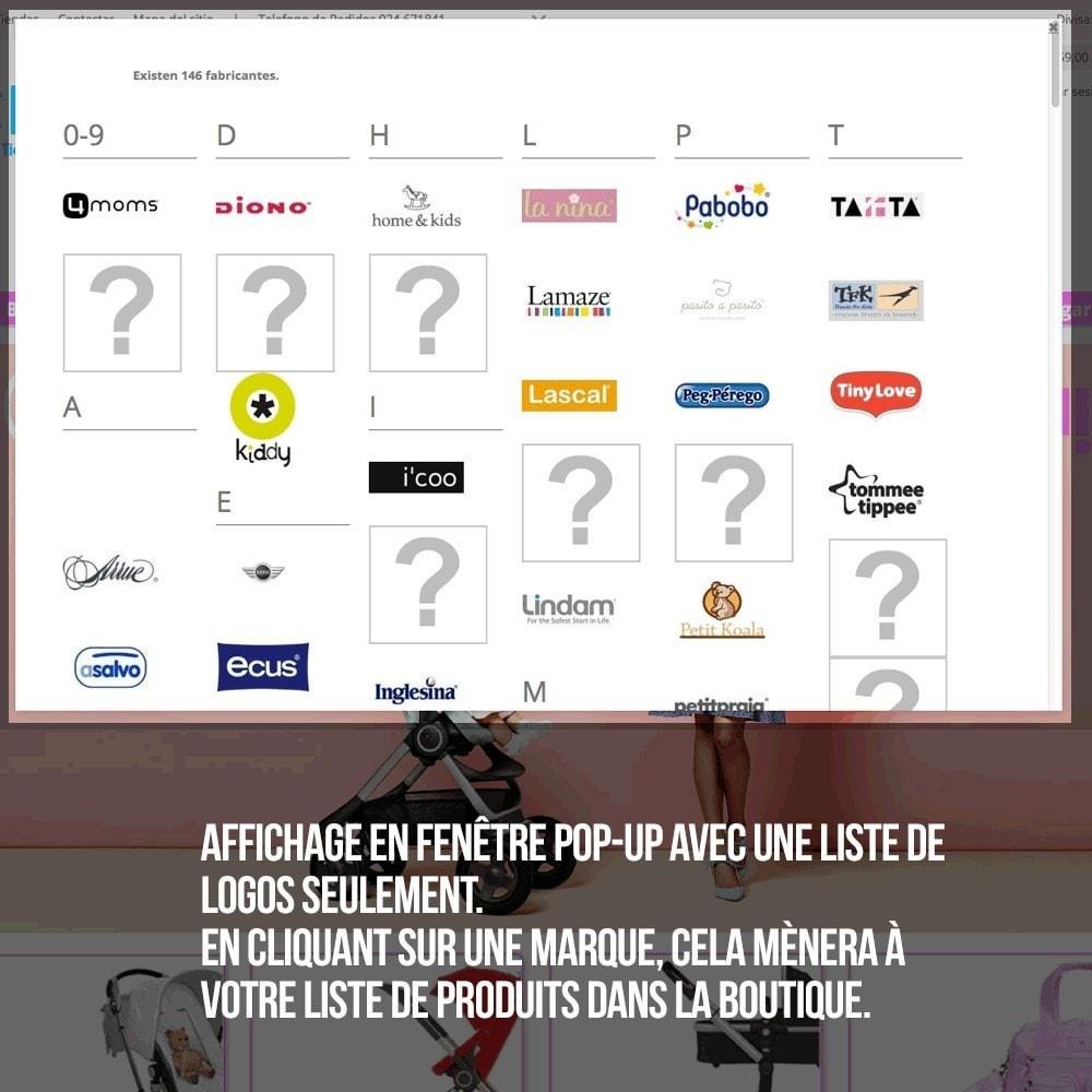 module - Recherche & Filtres - Moteur de recherche alphabétique de marques (fabricant) - 9