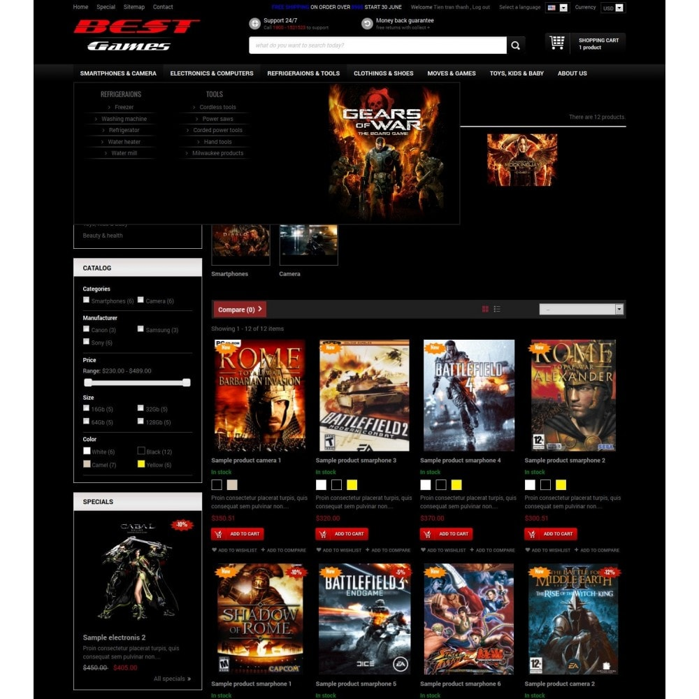 Responsive Best Games Prestashop Theme