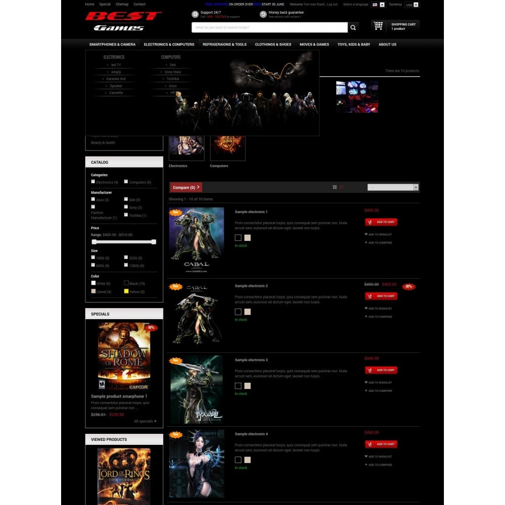 theme - Electronics & Computers - Responsive Best Games Prestashop Theme - 4