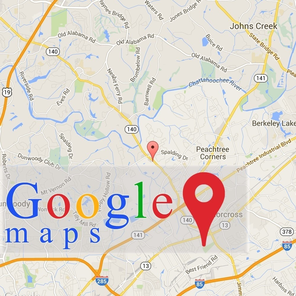 Search google maps api