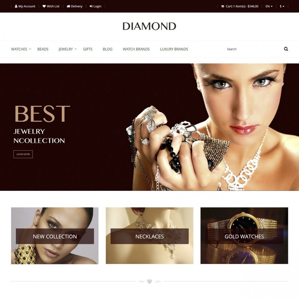 theme - Biżuteria & Akcesoria - Diamond - Sklep Jubilerski - 1