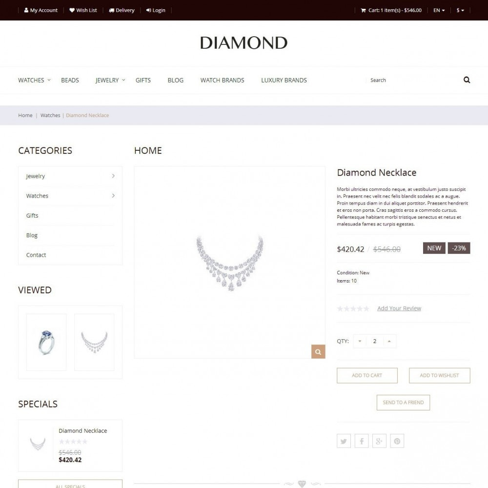 Diamond - Jewelry Store