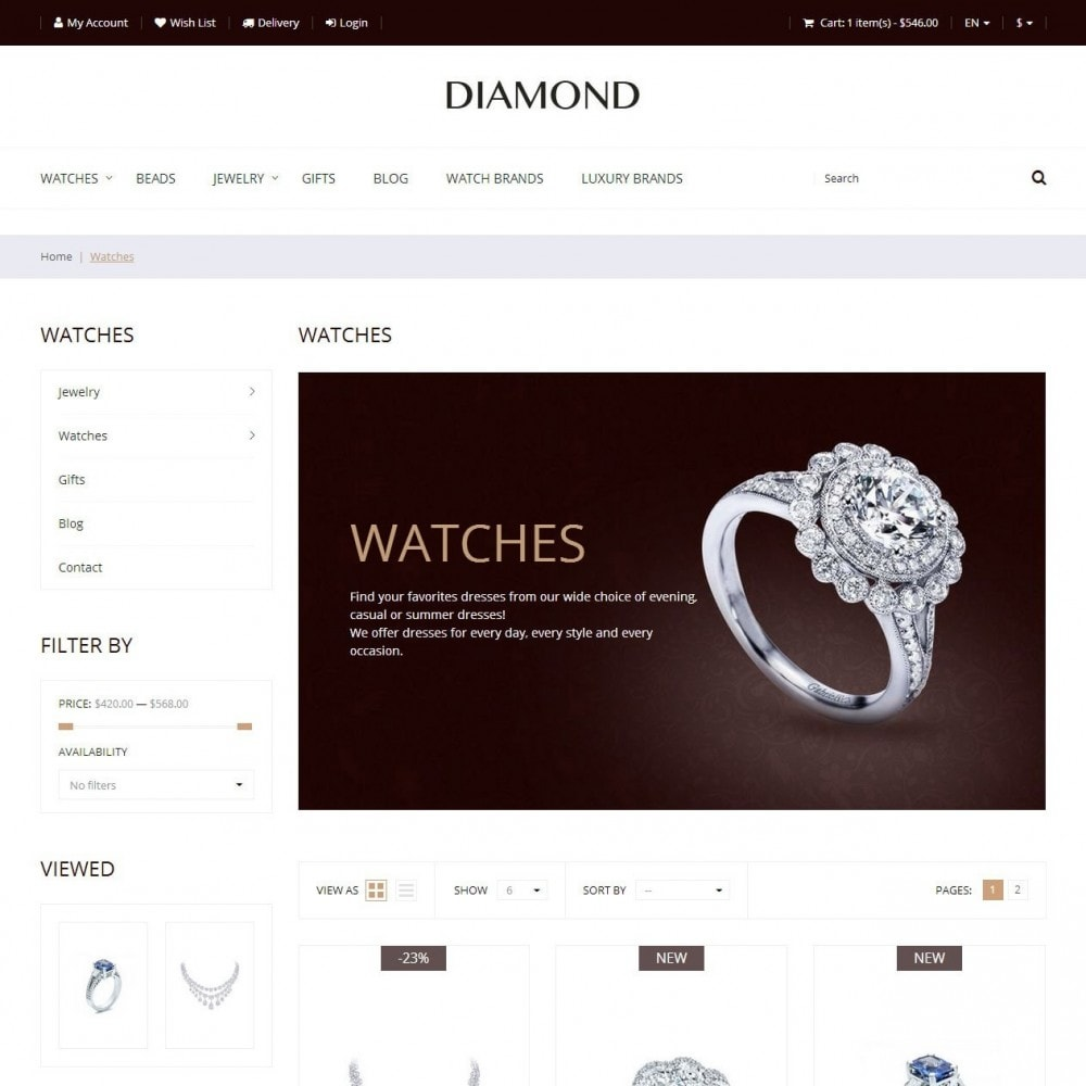 Diamond - Jewelry Store