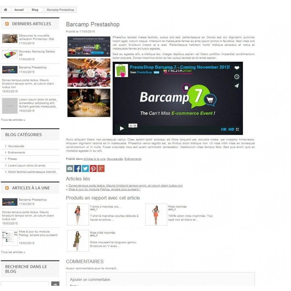 module - Content Management - Blog Prestashop - Articles, News, Press, Events - 2