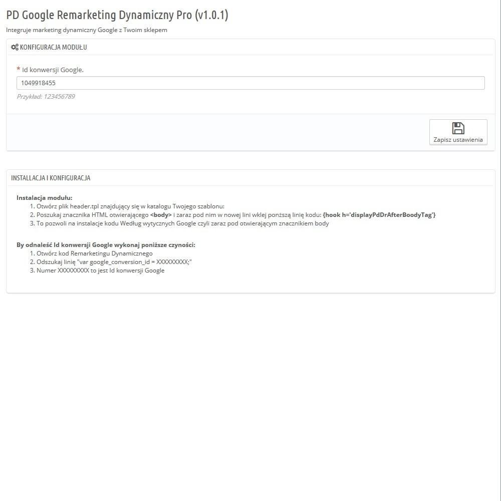 module - Remarketing & Opuszczone koszyki - Google Remarketing Dynamiczny Pro - 2