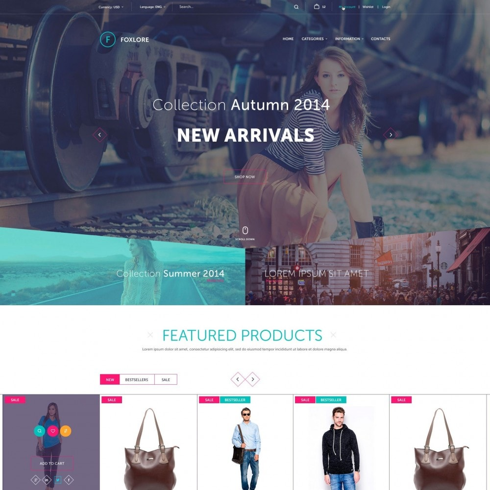 theme - Fashion & Shoes - Foxlore - Luxury for a Сlothing Store - 1