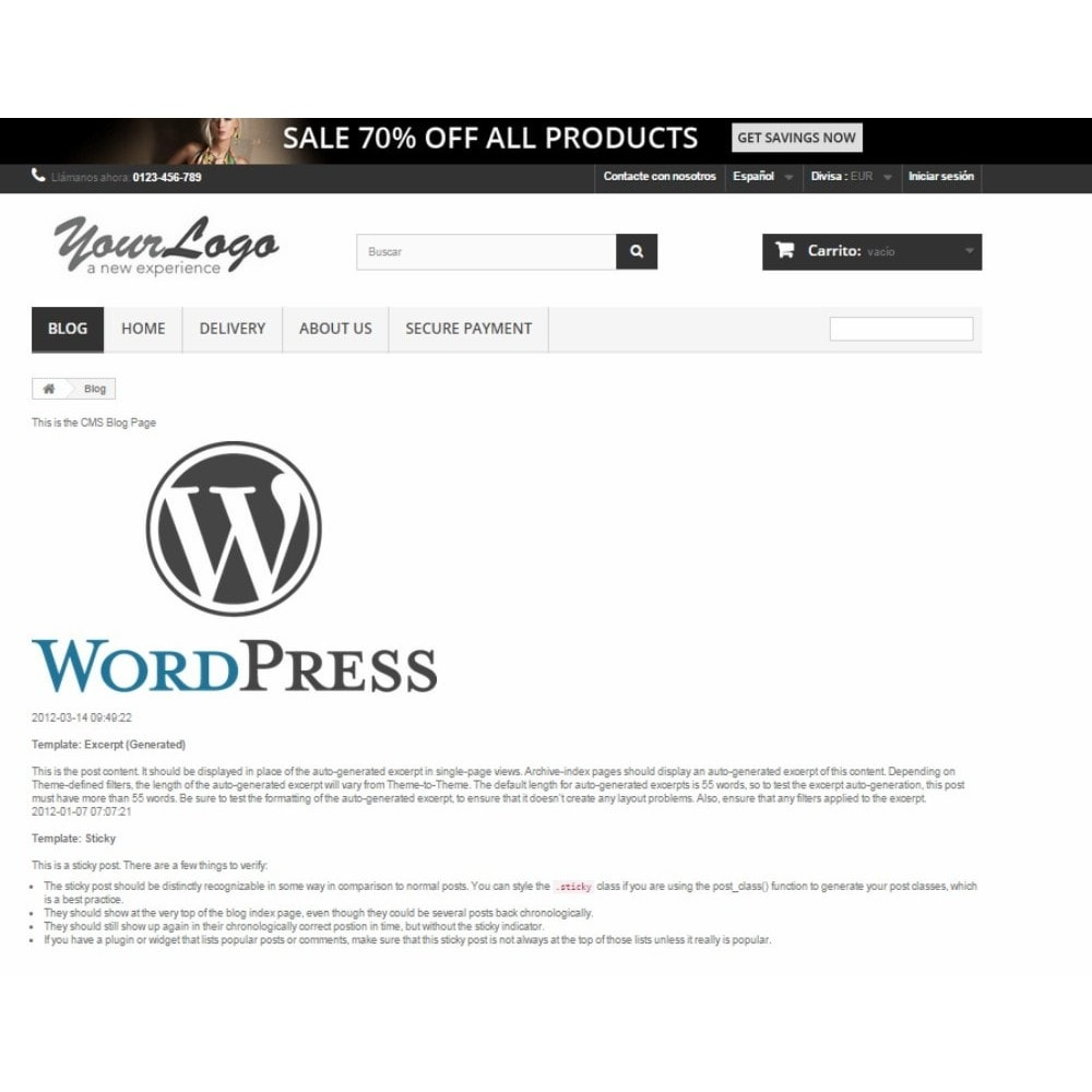 module - Blog, Forum & Aktualności - Simple Wordpress Into PrestaShop - 2