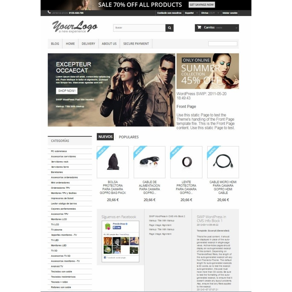 module - Blog, Forum & Actualités - Simple Wordpress Into PrestaShop - 6