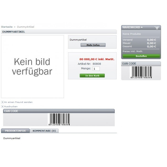 module - Zusatzinformationen & Produkt-Tabs - Simple EAN CODE Product Footer /Block - 4