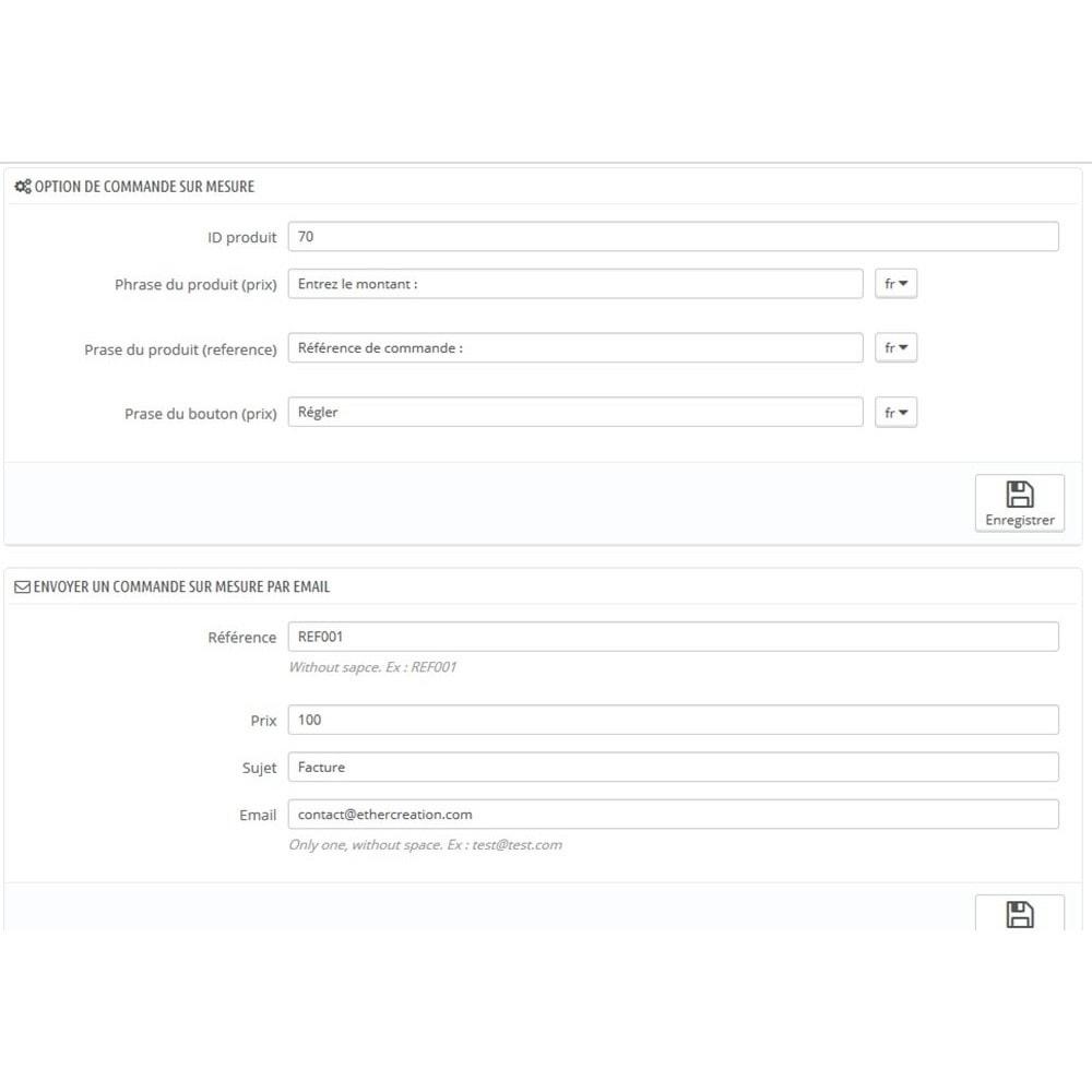 module - Gestion des Commandes - Commande sur mesure - 1