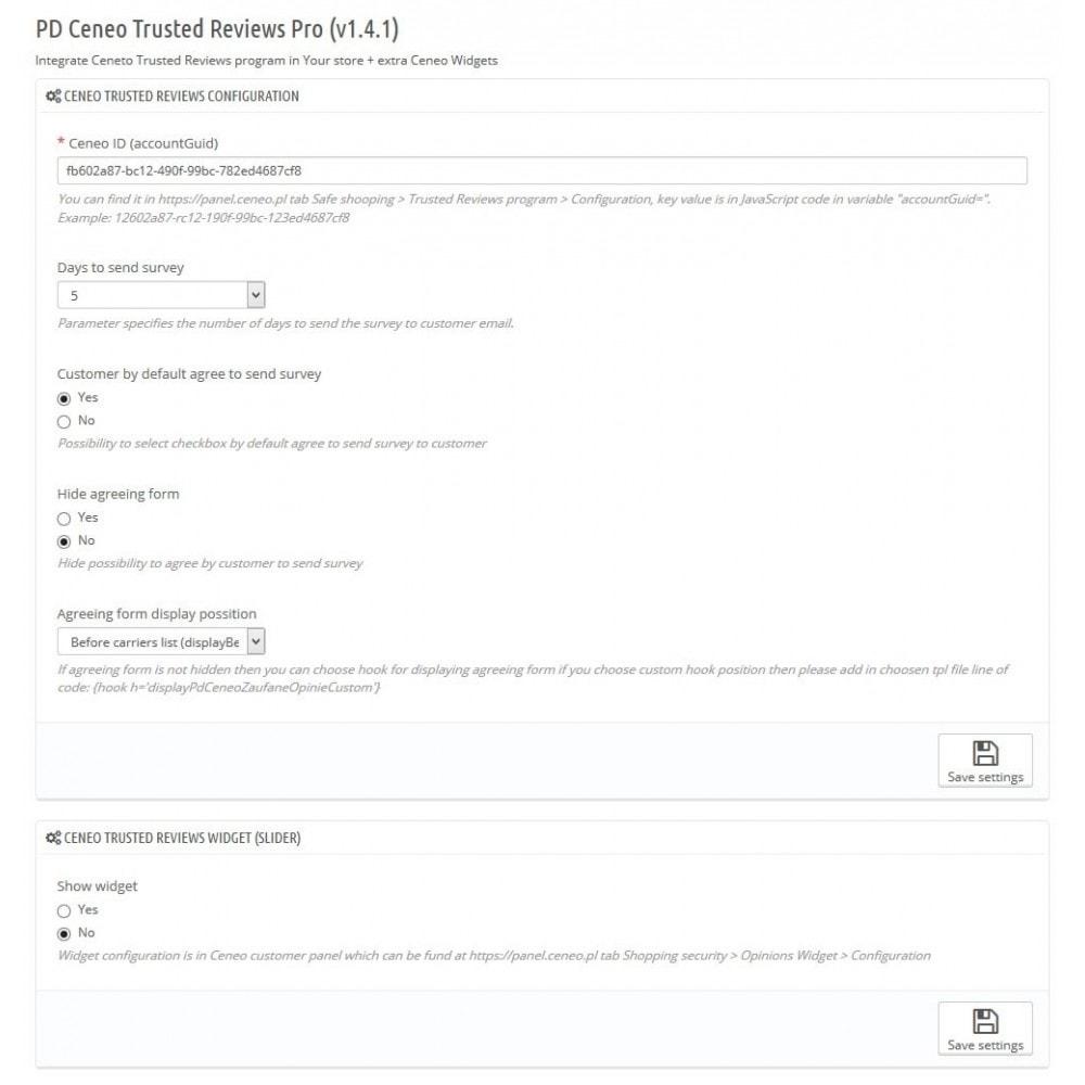 module - Customer Reviews - Ceneo Trusted Rewiews Pro - 2