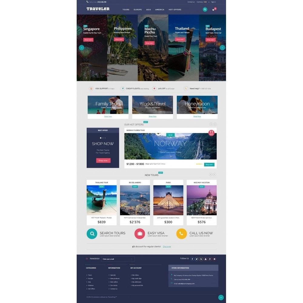 theme - Sport, Attività & Viaggi - Traveler Prestashop 1.6 Responsive Theme - 2