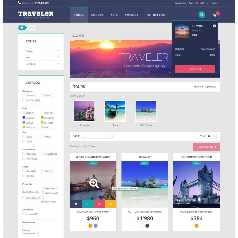 theme - Sport, Attività & Viaggi - Traveler Prestashop 1.6 Responsive Theme - 7