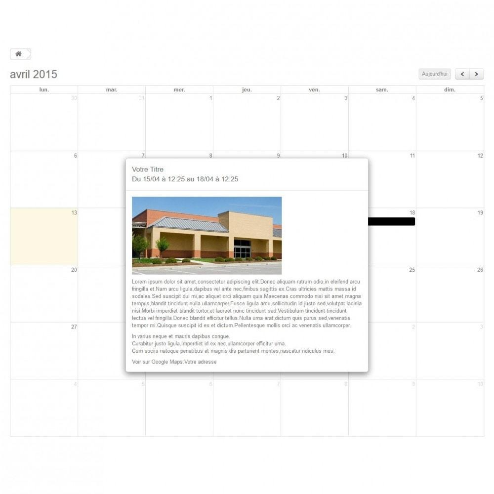 module - Blog, Forum & Actualités - Calendrier Evenements Dynamiques - 2