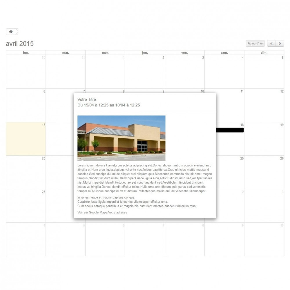 module - Blog, Foro y Noticias - Dynamic Events Calendar - 2