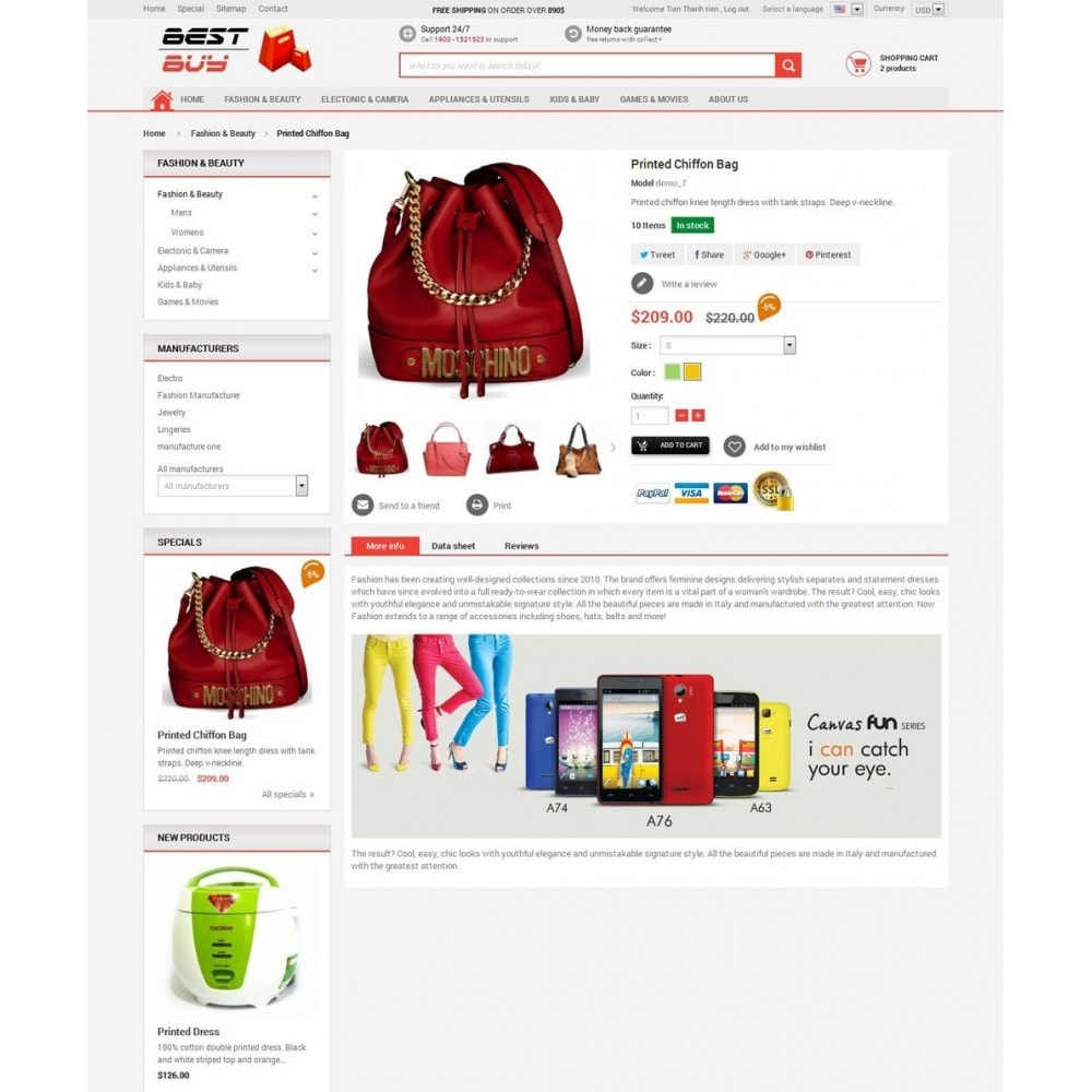 theme - Eletrônicos & High Tech - Responsive Best Buy Prestashop Theme - 6