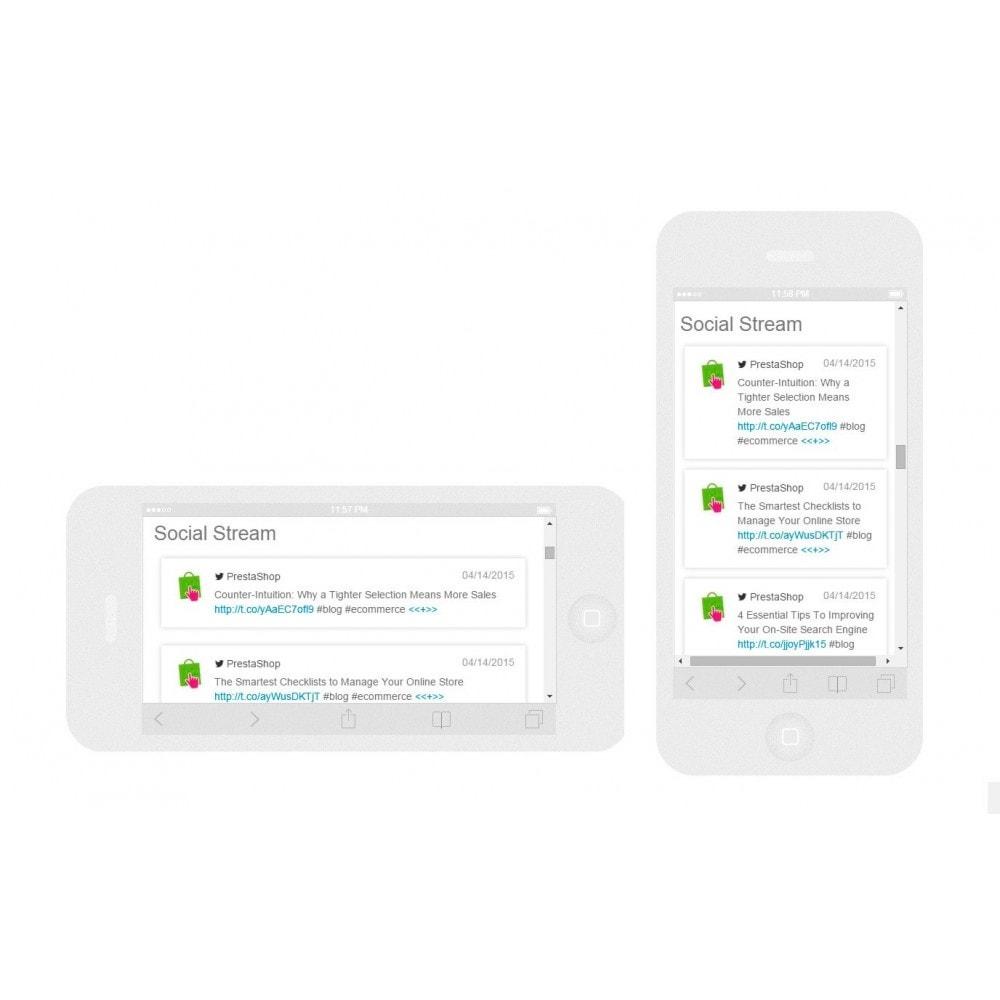 module - Виджеты для социальных сетей - Presta Social Stream - 6