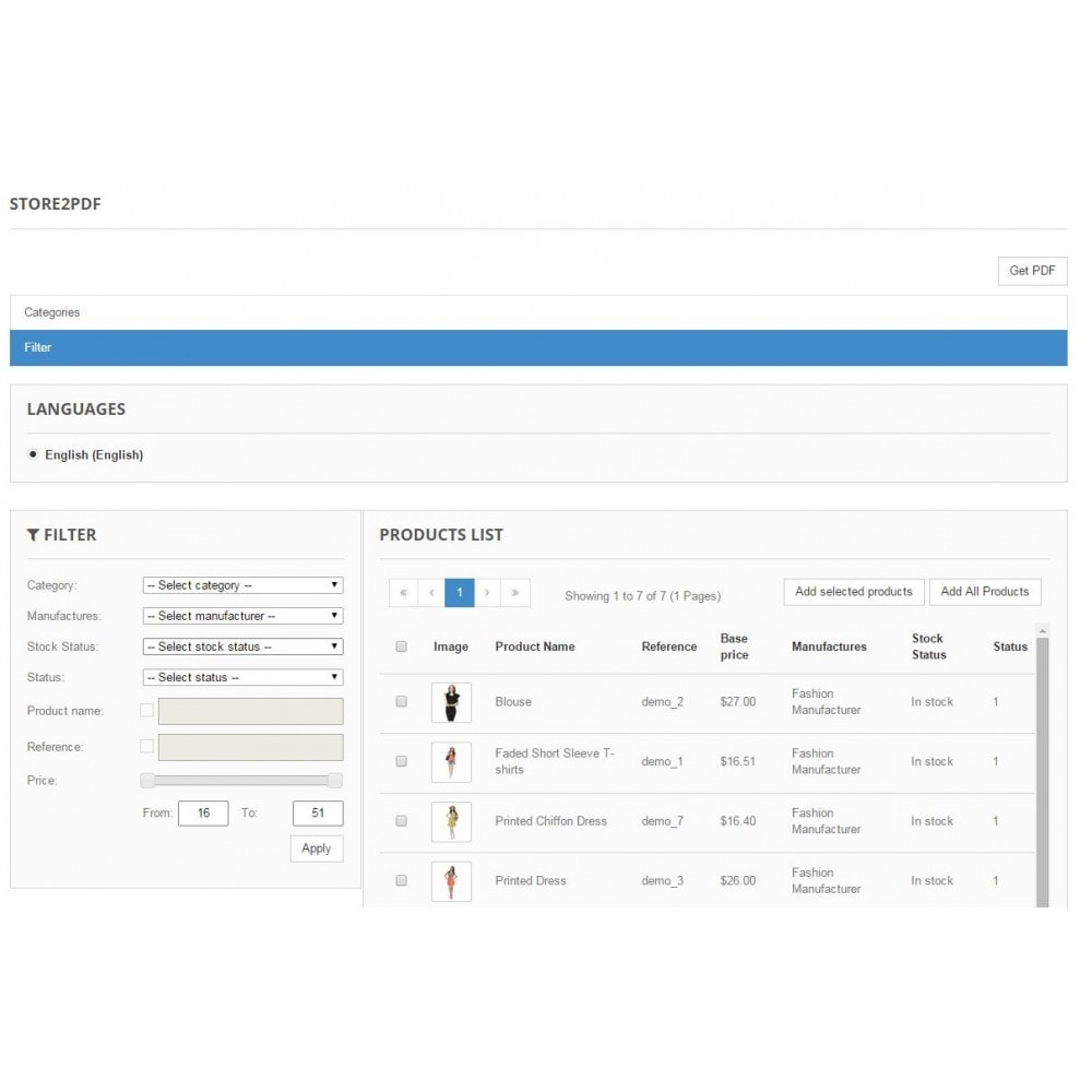 module - Importeren en Exporteren van data - Store2PDF - 2