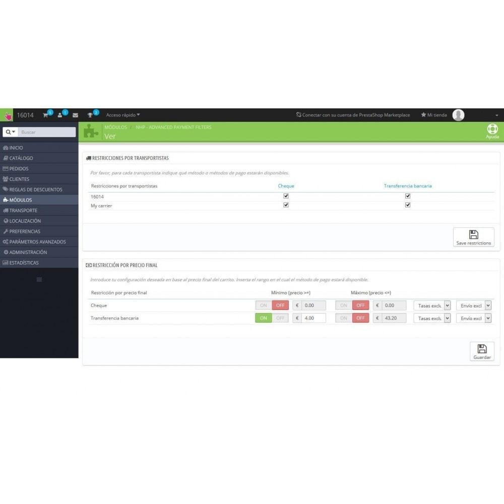 module - Otros métodos de pago - Advanced Payment Filters - Filtro avanzado de Pagos - 1