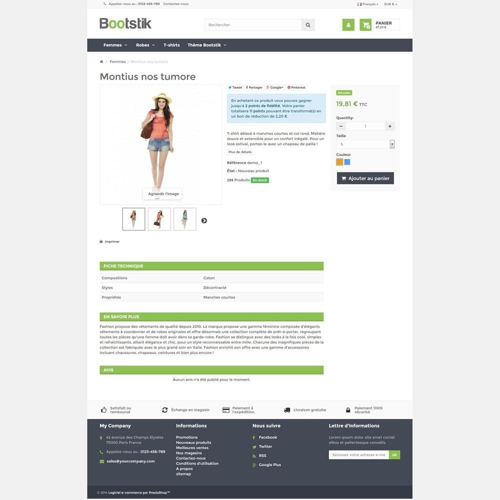 theme - Mode & Chaussures - Theme Responsive Bootstik - 6