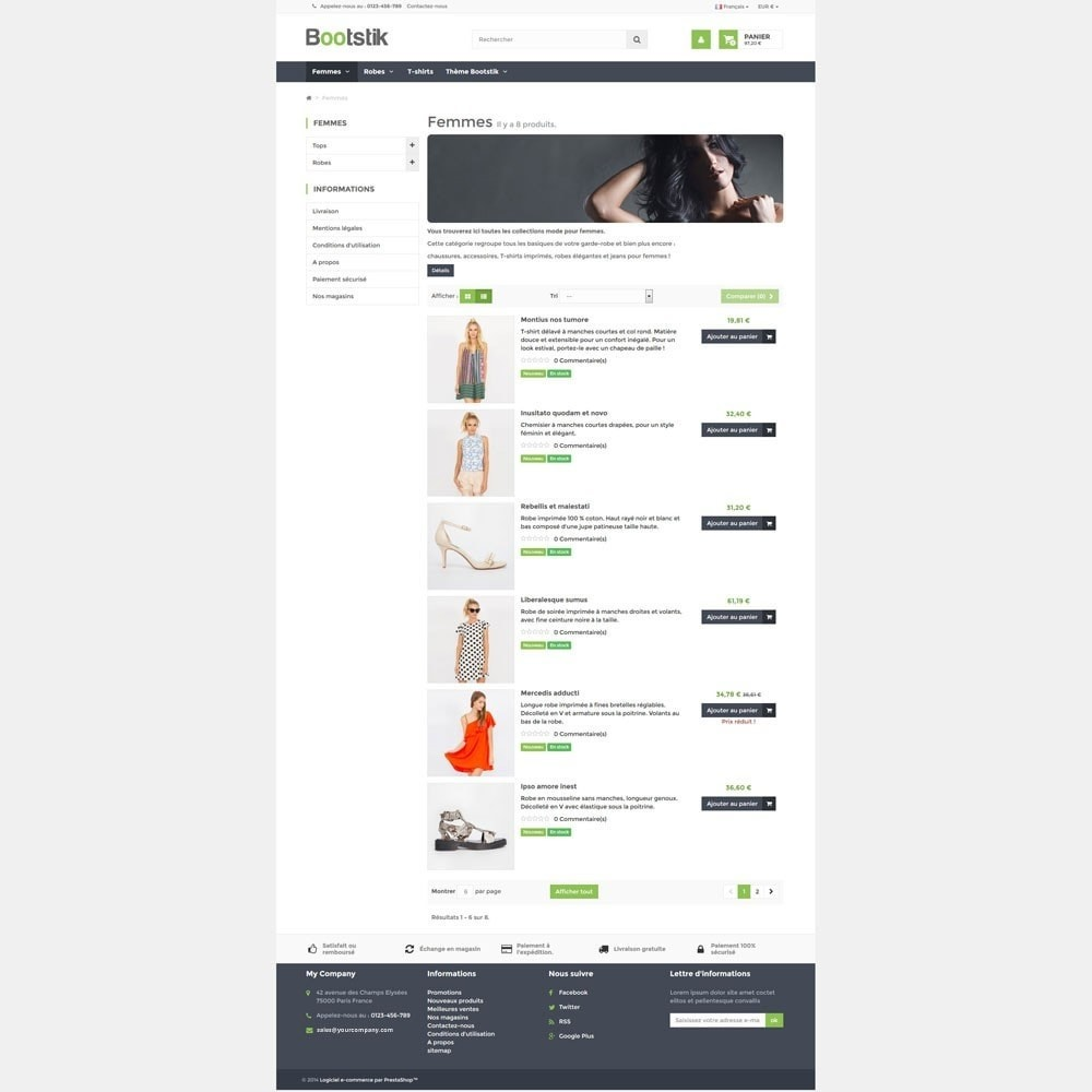 theme - Moda & Calçados - Bootstik Responsive Theme - 4