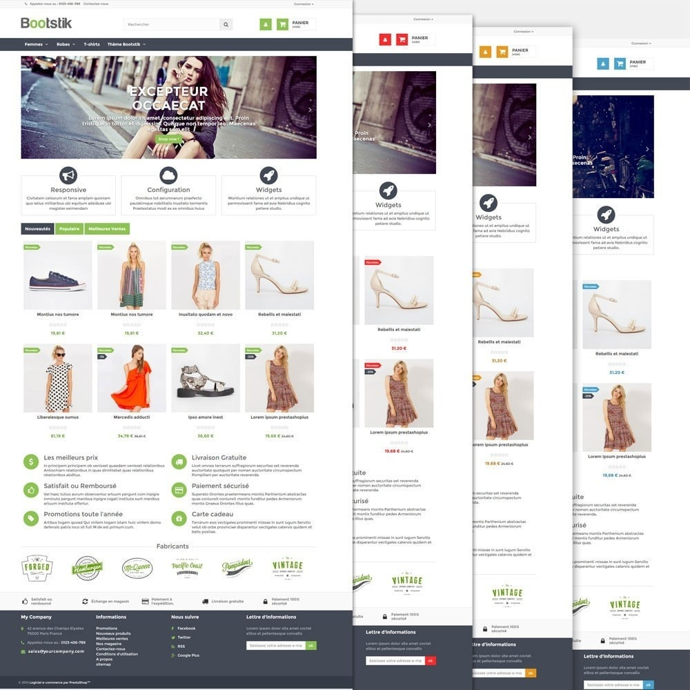 theme - Moda & Calçados - Bootstik Responsive Theme - 3