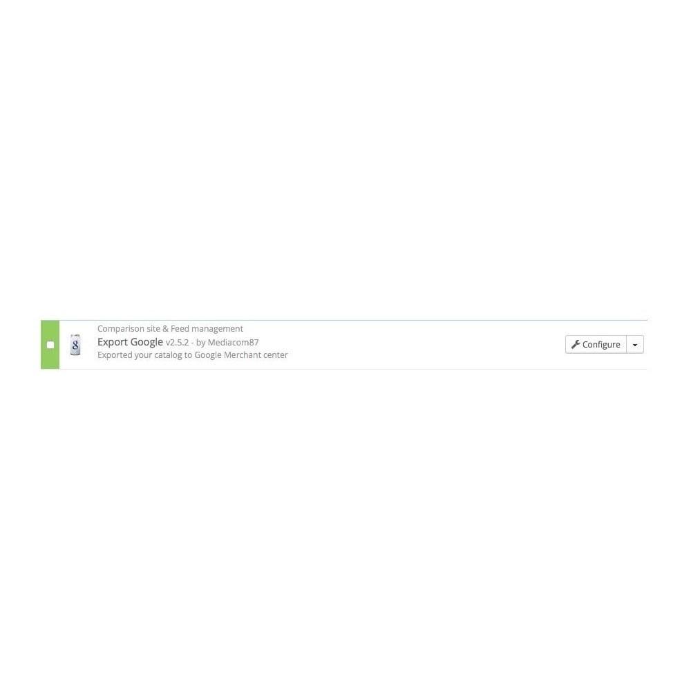 module - SEA SEM (paid advertising) & Affiliation Platforms - Google Shopping Export (Google Merchant Center) - 2
