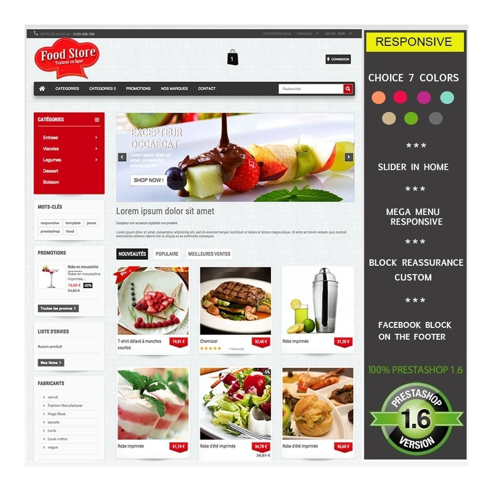 theme - Alimentation & Restauration - FoodStore - 1
