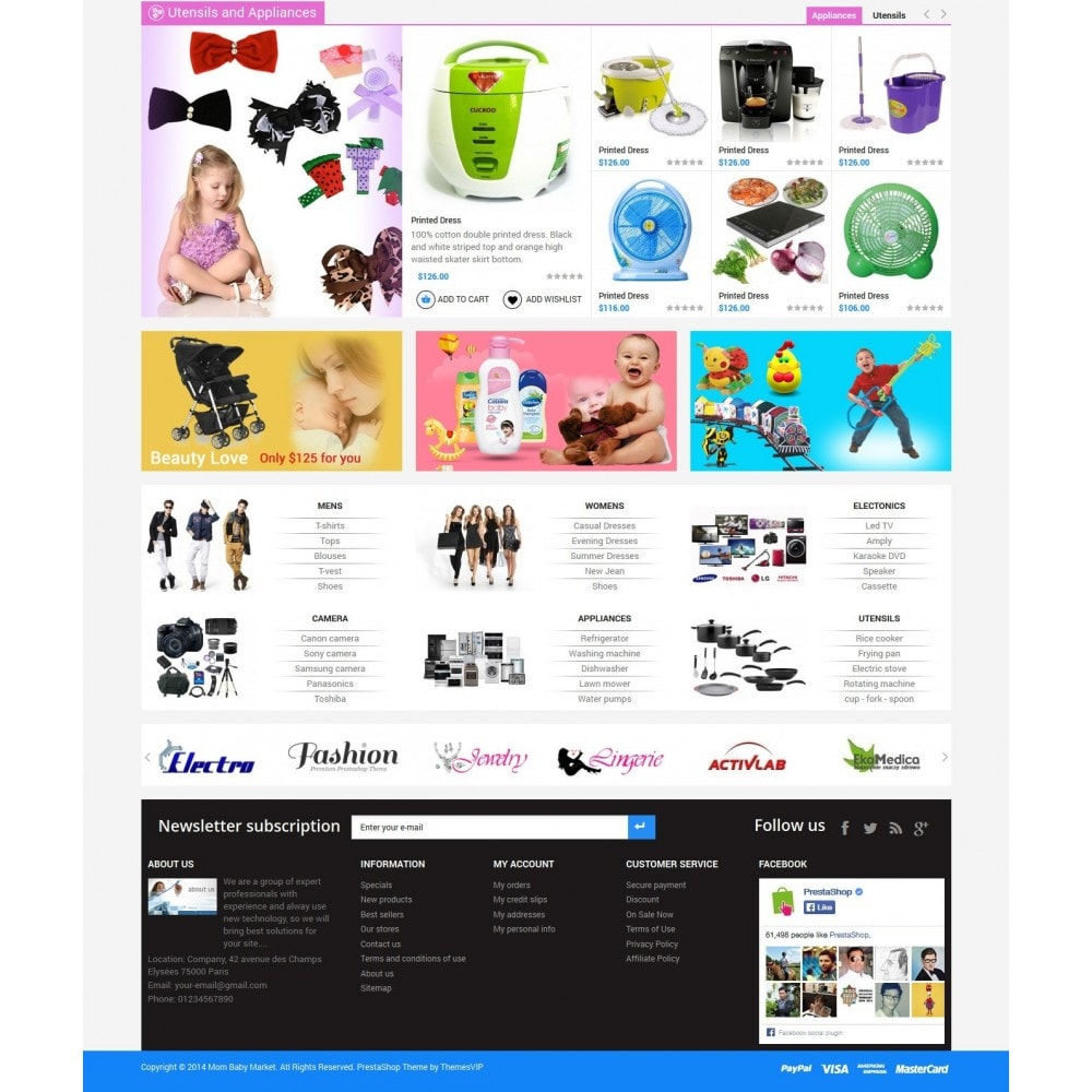 Responsive Mom & Baby Prestashop Theme