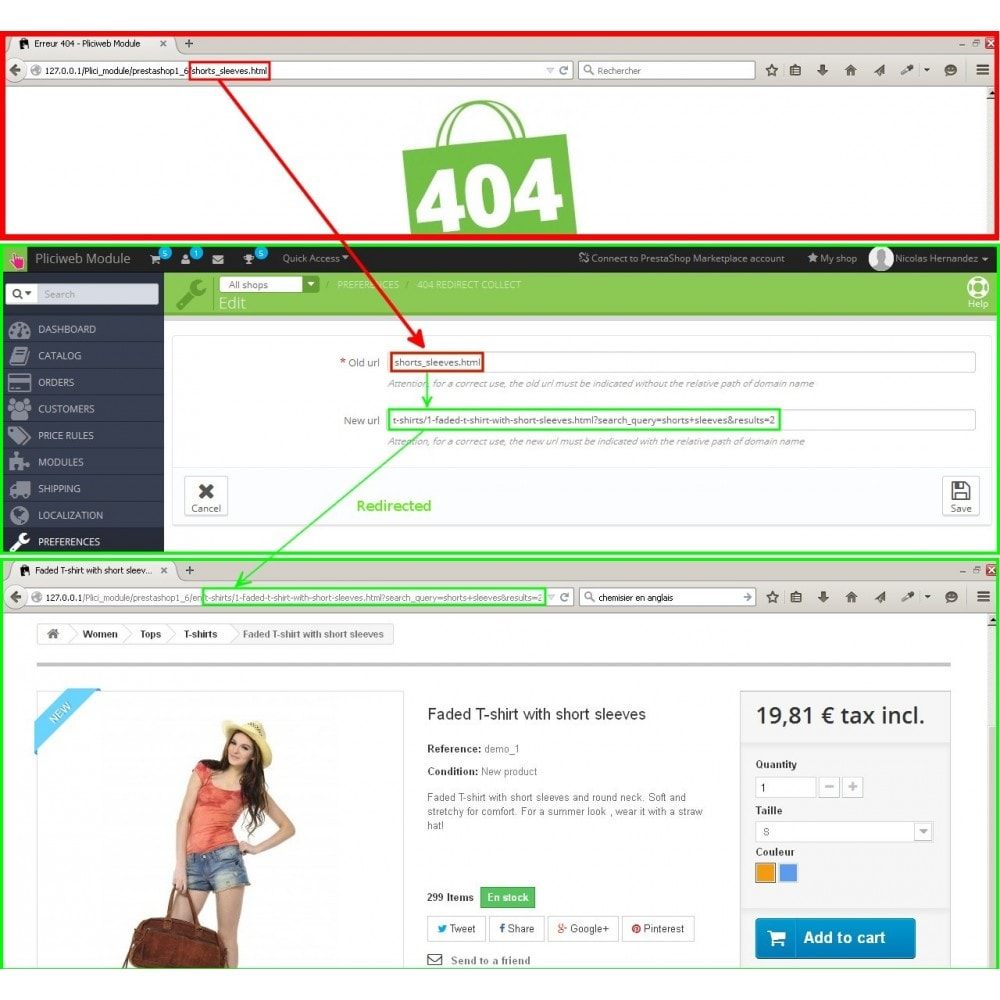 module - URL & Redirects - 404 redirect collect - 3