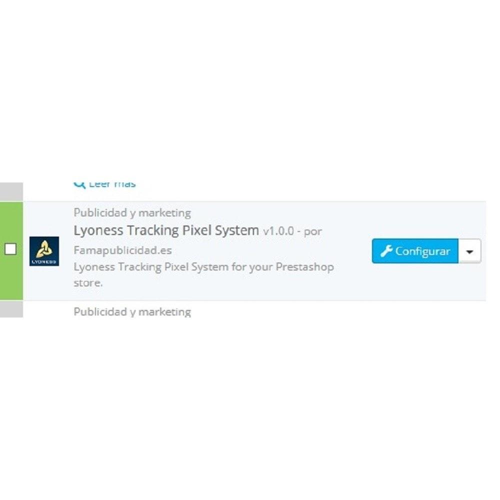 module - Informes y Estadísticas - Lyoness Tracking Pixel con página de redirección - 2