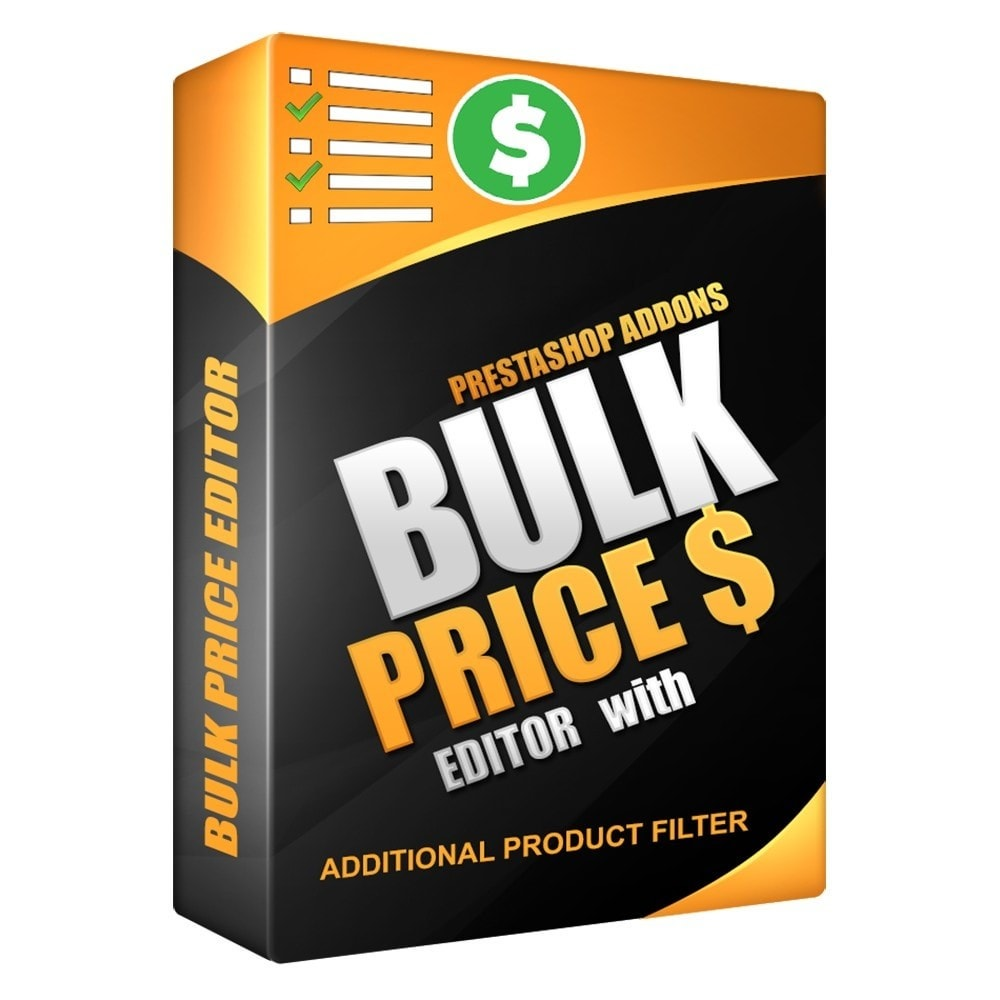 module - Edition rapide & Edition de masse - Bulk price editor with additional product filter - 1