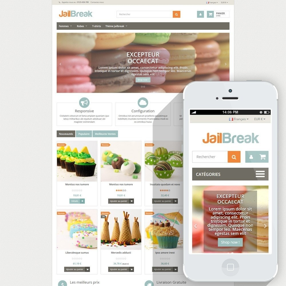 theme - Lebensmittel & Restaurants - Jailbreak Responsive - 1