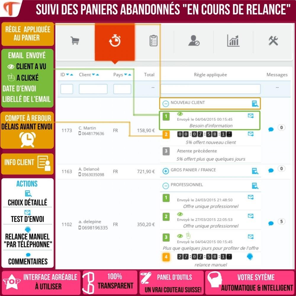 module - Remarketing & Paniers Abandonnés - Smart Cart Reminder / Relance Panier Intelligent - 4
