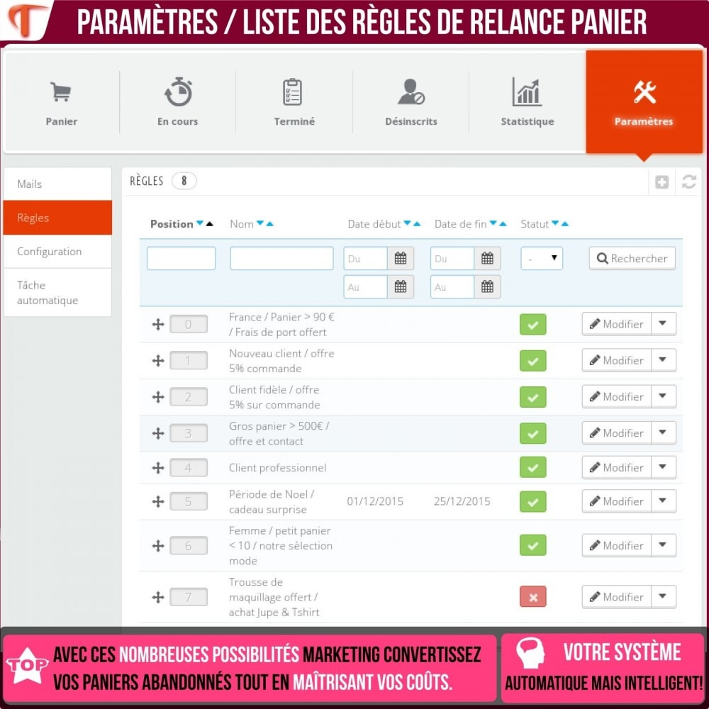 bundle - Remarketing & Paniers Abandonnés - Booster de ventes - 20