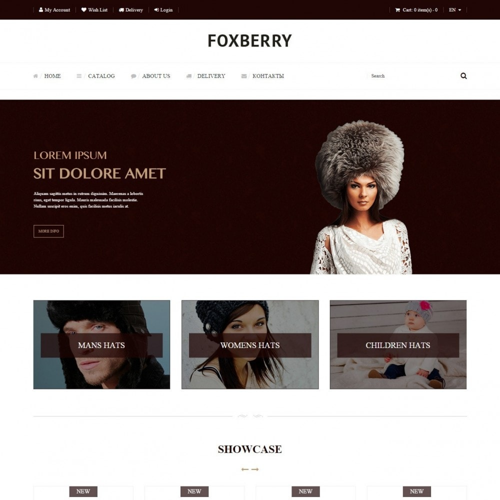 theme - Fashion & Shoes - Foxberry - Hats Store - 1